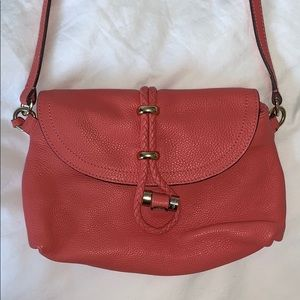 Uterque // Pink leather crossbody bag